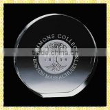 Customized Round Engraved Clear Glass Paperweight For Wedding Souvenirs