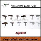 all size starter puller for chainsaw, spare parts plastic starter, all design starter puller ,plastic puller for chain saw