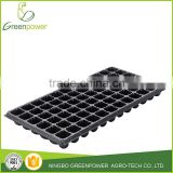Grow Pro Greenhouse 72 Cell Square Holes Seedling Plugs Starter Seed Starting Black Plastic Propagation Insert Fits tray