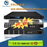 DTV head-end 8 channel CVBS/SDI mpeg-2/h.264 iptv encoder,h 264 sd video encoder COL5181E