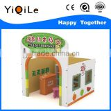 Supermarket outdoor wooden playhouse funny wooden toys kids role playing kids wooden house