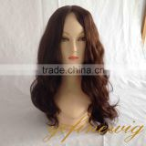 New Short Human Hair 28 inch Mono Top Weft Wig
