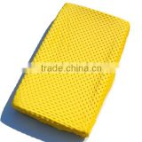 Yellow Change Mat Cover Wholesale Minky Baby Breathable Change Table Mat Cover