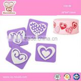 lovely heart design factory supply foam fondant cake decorating tools cake stamp