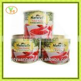 canned food list china tomato paste 28-30%brix in the aseptic packing export to africa market