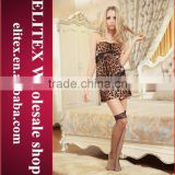 2015 Worldwide Newest Unique Style Fashion Hot lingerie leopard mature ladies babydoll