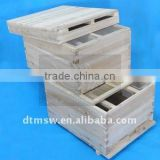 10 Frames Beekeeping equipment flow beehive Langstroth Beehive Bee hive Two Layer Hive with Full Hive Frame
