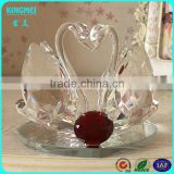 Clear beautiful crystal crafts glass swan for wedding favors gift