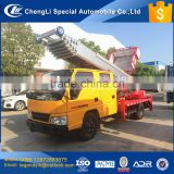 CLW high quality 28m hydraulic high altitude ladder truck with a platform of 200kg or 400kg load