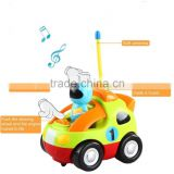 2015 new children electronic toy car, with music and horn, fashion kids toy from ICTC factory