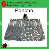CHINA XINXING High Quality Camouflage Military Army Polyester Nylon PVC PU Coated Raincoat Poncho