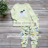 2011 autumn babies clothes set 100% cotton embroider home suits