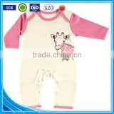 Printed autumn wear long sleeve custom infant organic cotton wholesale import new born baby clothes
