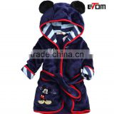 1535 Cartoon child flannel robe kids bath robe for boys and girls in winter robe sleepwear