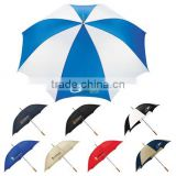 "Palm Beach 60"" Steel Manual Golf Umbrella - large polyester canopy, metal shaft, wooden handle and comes with your logo"