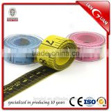 Chinese 150cm tape measure / fiber glass plastic measuring tape packed in transparent white box