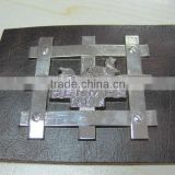 leather labels for jeans fake leather patch die cast Jeans Leather Label with Metal Logo