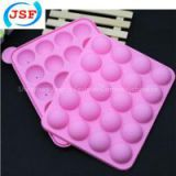 Hot Selling Food Safety Silicone Cake Pop Molds 20pcs Set With 20 Free Sticks, JSF-AS1001
