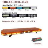Amber Dome LED Lightbar with Spotlights for Public Safety