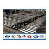 Low Voltage tapered steel pole , galvanized metal posts with Bituminous Painting