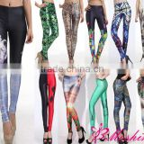 Whoelsale NO MOQ Limit Digital Print Glitter Cosmic Galaxy Elegant Leggings Fashion 2013 Lady Pants