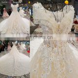 LS00307 white bridal puffy lace gown long train elegant style dresses gowns and beautiful dresses