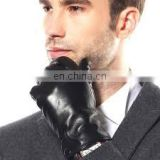 Men's Wool Lined Leather Dress Gloves/Touchscreen Leather Gloves/Dress
