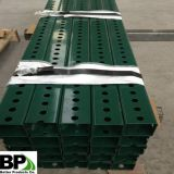 Green painted and perforated Square Sign Post