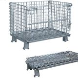 Warehouse storage steel collapsible wire mesh box