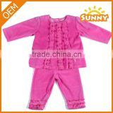 Wholesale 2015 New Baby Girl Clothing Set with Lovely Lace