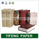 Custom Design Fake Book Shape Design Box Fancy Printing Beautiful Book Shape Gift Storage Box Made In China