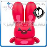Mini Qute Mask Bear 10cm Angry Beibei Rabbit Kawaii plastic animal action figures Kids Cartoon toy car Decoration doll model