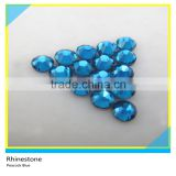 New Fashion Peacock Blue Crystal Hot Fix Shiny Rhinestone Flat Back Glass Material Stone