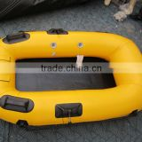 1.6meters 1 person mini inflatable pontoon fishing boat