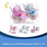 Wholesale new design Wedding baby carriage shape paper Gift Box