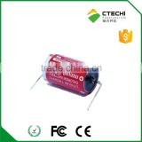 3.6V ER3 1/2AA Maxell brand battery PLC application battery