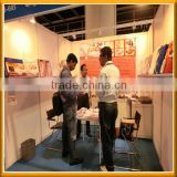 Greek customer visit our hongkong Exhibition for polyester electric blanket with CE,ROHS certification