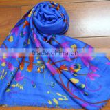 Fashionable voile flower printed long scarf modal scarf infinity scarf wholesale                                                                         Quality Choice