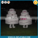 Funny inflatable birthday cake costume,inflatable moving cartoon for birthday celebration