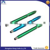 promotion advertising pull out banner metal pen with stylus tip
