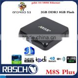 M8S Plus M8S Android 5.1 Lollipop Amlogic S812 Quad core 4K Smart Android TV BOX                                                                         Quality Choice