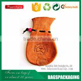 Cute small drawstring gift custom printed leather pouch