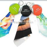 microfiber glasses cleaning cloth with keychain