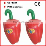 PVC inflatable Pepper for promotion inflatable vegetable pepper