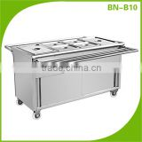 (BN-B10) Cosbao stainless steel restaurant kitchen catering food warmer trolley trailers