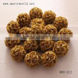 20cm dia wholesale artificial gold flower ball for wedding decoration rose flower wedding flower party decoration(MWB-012)