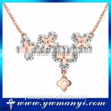 Promotion Sale Simple Design New Arrival Fashion Design cute flower extravagant gold necklace crystal N0082