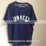 cool style Navy and white custom youth baseball jersey