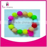 colorful silicone bead bracelet for baby