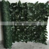 Hot Sale Outdoor Decoration Plastic Leaf Hedge Artificial Green Leaf Fence                                                                         Quality Choice